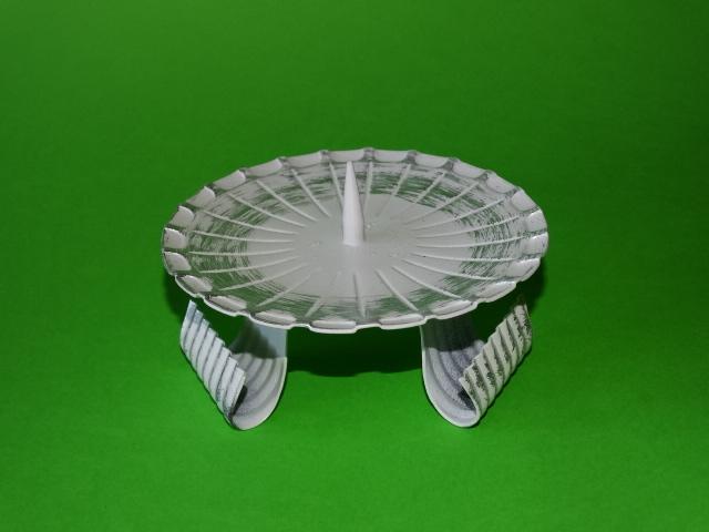 kerzenhalter 10 h wei silber mit 3 f en mit dorn f r kerzendurchmesser 8 10 cm zur zeit. Black Bedroom Furniture Sets. Home Design Ideas